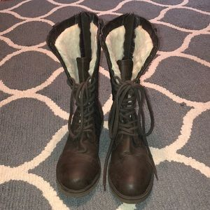 Wool Warm Lace Up boots